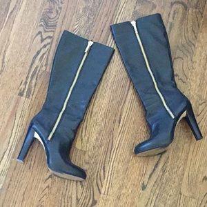 Banana Republic black leather boots, size 7